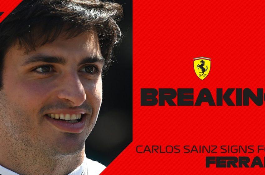 Карлос Сайнс переходит в «Феррари» с 2021